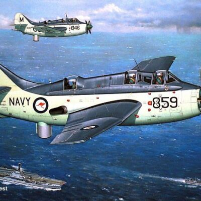 John Best's painting of Gannet XA331