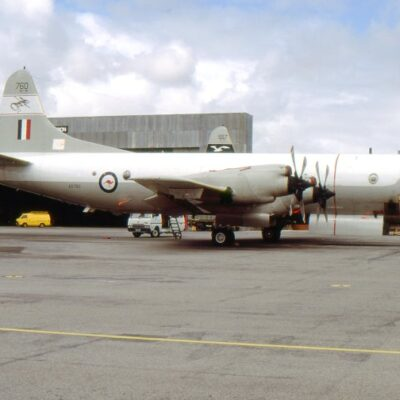 P-3C Orion A9-760 at RAAF Edinburgh, SA on 15 October 1986. The aircraft now carries the smaller version of 10 Squadron's chimera emblem on the tail. Picture: Nigel Daw  QUEENSLAND AIR MUSEUM www.qam.com.au