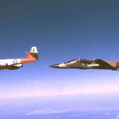Meteor WD647 with F-111C A8-138