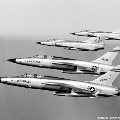 Two F-105F Thunderchiefs